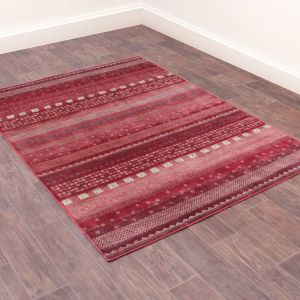 Oushak Gabbeh Traditional Rug in Red