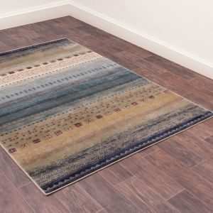 Oushak Gabbeh Traditional Rug in Teal
