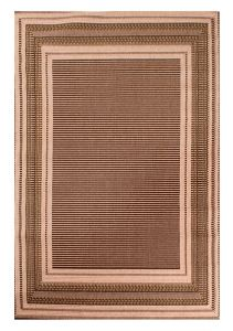 Indoor Outdoor Border Rugs in Natural by Rugstyle