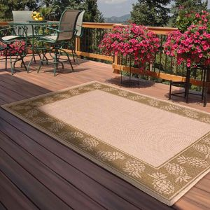 Indoor Outdoor Pineapple Rugs in Green by Rugstyle