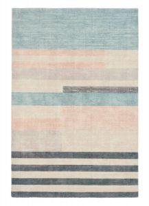 Parwa Blocks Wool Rugs 026308 in Dusky Hues