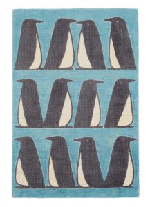 Scion Pedro Penguin Rugs in 023408 in Marine Blue