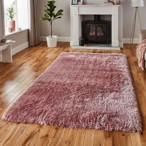 Polar PL95 Shaggy Rugs in Rose Pink