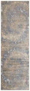 Pollo Abstract Runner By Concept Loom POLL109 in Taupe Grey