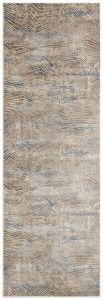 Pollo Abstract Runner By Concept Loom POLL108 in Taupe Grey