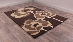 Poppie rugs in Chocolate by URCO