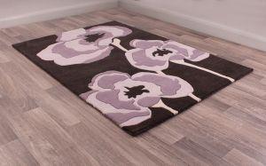Poppie rugs in Purple by URCO