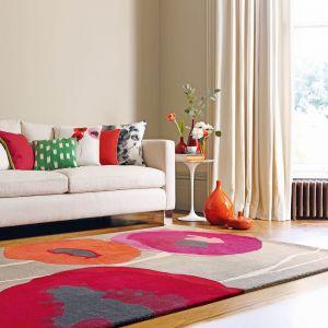 Sanderson Poppies Rugs 45700 Red/Orange