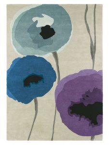 Sanderson Poppies Rugs 45705 Indigo Purple