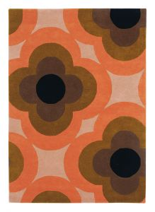 Pulse Rugs 60305 in Pink by Orla Kiely