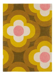 Pulse Rugs 60306 in Yellow by Orla Kiely