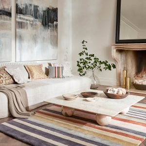 Rosita Stripe Wool Rugs 140402 Harissa by Harlequin