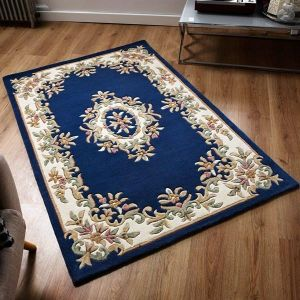Royal Aubusson Traditional Wool rugs in Blue