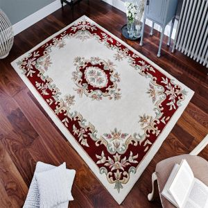 Royal Aubusson Traditional Wool rugs in Red Cream