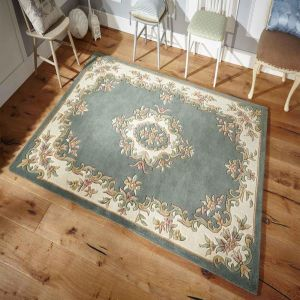 Royal Aubusson Traditional Wool rugs in Green