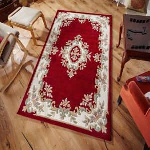 Royal Aubusson Traditional Wool rugs in Red
