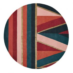 Sahara Round Rugs 56105 by Ted Baker in Burgundy