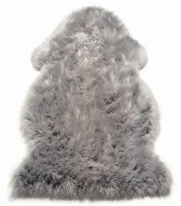 Sheepskin Rugs in Silver