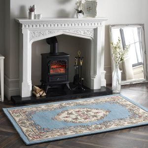 Shensi Traditional Wool Rugs in Blue