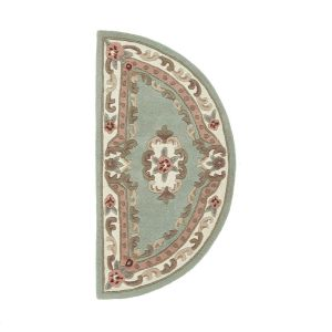 Shensi Traditional Half Moon Rugs in Green