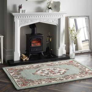 Shensi Traditional Wool Rugs in Green
