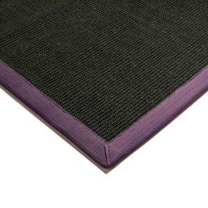 Sisal Rugs in Black Purple