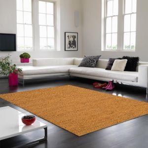 Jute Soumak Natural Woven Modern Rugs in Gold