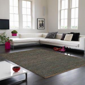 Jute Soumak Natural Woven Modern Rugs in Grey