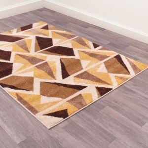 Spirit Abstract Geometric Rugs in Brown Beige