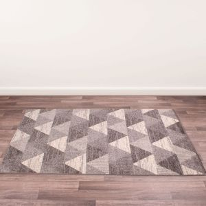 Spirit Triangle Modern Geometric Rugs in Grey
