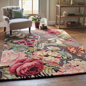 Stapleton Park Wool Rugs 45302 By Sanderson in Rosewood