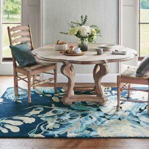 Stapleton Park Wool Rugs 45308 By Sanderson in Admiral Blue