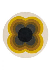Sunflower Rugs 60006 in Yellow by Orla Kiely