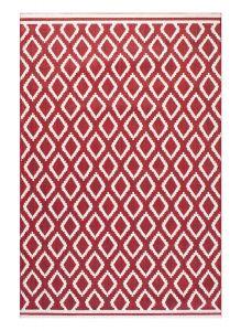 Terrace Diamond Modern Geometric Indoor Outdoor Rugs in Red