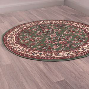Coronation Circular Rugs in Green by Rugstyle
