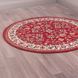 Coronation Circular Rugs in Red by Rugstyle