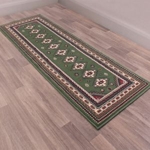 Malak Runners in Green by Rugstyle