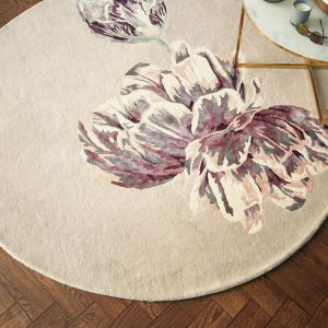 Tranquility Round Rugs 56001 by Ted Baker in Beige
