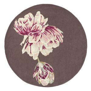 Tranquility Round Rugs 56005 by Ted Baker in Aubergine
