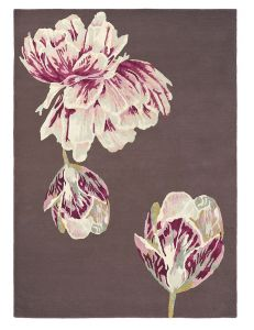 Tranquility Rugs 56005 by Ted Baker in Aubergine