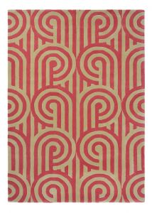 Turnabouts Rugs 039200 in Claret by Florence Broadhurst