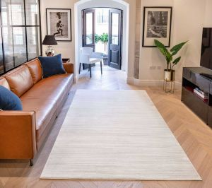 Uni Abstract Striped UNI901 Rugs in Oyster