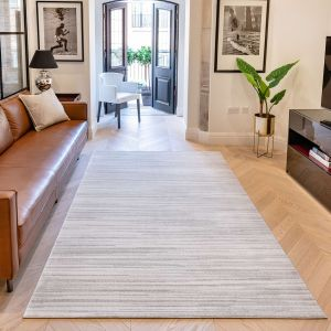 Uni Abstract Striped UNI902 Rugs in Stone