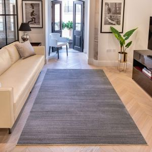 Uni Abstract Striped UNI903 Rugs in Grey