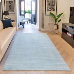Uni Abstract Striped UNI904 Rugs in Sky Blue