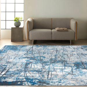 Calvin Klein Vapor Designer Abstract Rugs CK972 Grey Blue