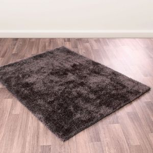 Whisper Shaggy Rugs in Charcoal Grey