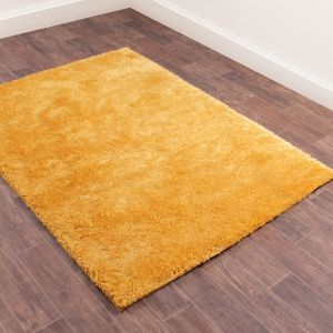 Whisper Shaggy Rugs in Gold