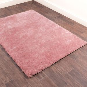 Whisper Shaggy Rugs in Blush Pink