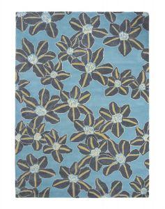 Zakouma Floral Wool Rugs 160608 by Ted Baker in Light Blue